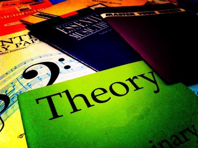 Algunos libros esparcidos en una superficie. Destaca uno con la portada de color verde donde puede leerse la palabra Theory, en referencia al título del artículo, teorías de liderazgo.